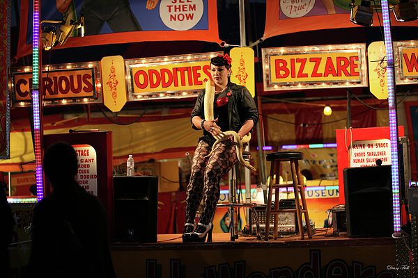 Sideshow Photograph - Sideshow Performer by Diane Falk