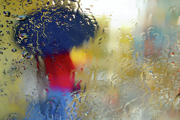 Abstract Photograph - Silhouette In The Rain by Carlos Caetano