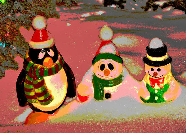 Snow Digital Art - Snow Buddies by Robert Joseph