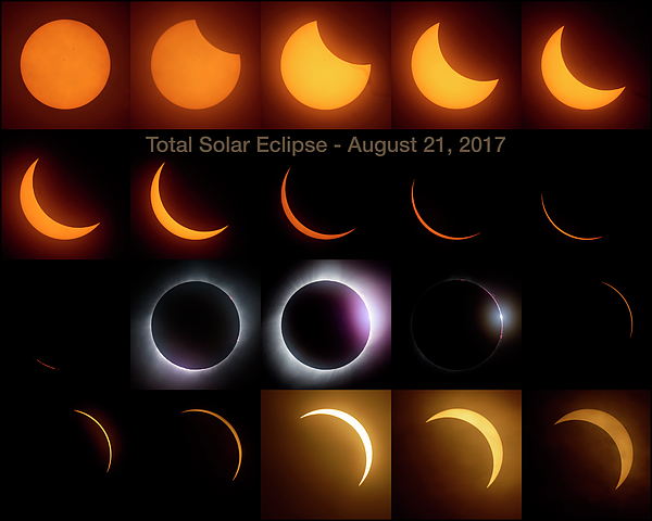 Solar Eclipse Photograph - Solar Eclipse - August 21 2017 by Art Whitton