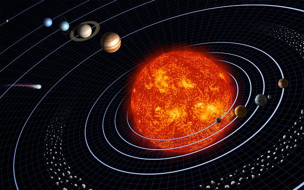 Asteroid Belt Digital Art - Solar System by Stocktrek Images
