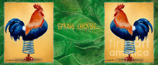 Will Bullas Painting - Spring Chicken... by Will Bullas