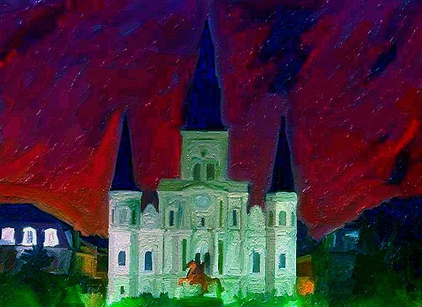 Landscapes Digital Art - St. Louis Cathedral by Denise  Wilkinson