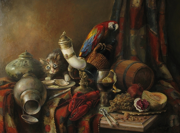 Still-life Painting - Still-life With A Lobster by Tigran Ghulyan