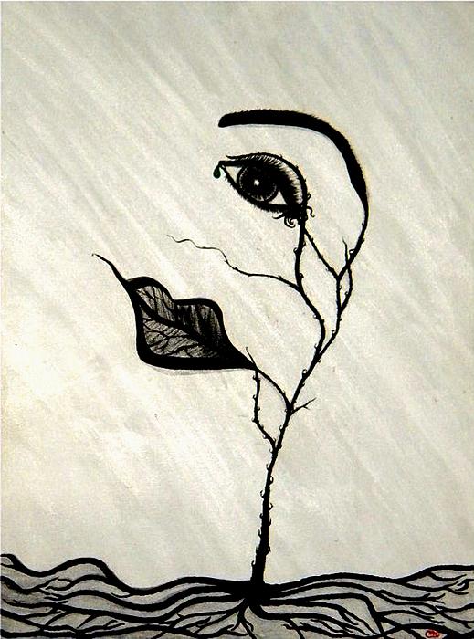 Tear Painting - Still Standing by Christine  Bennett