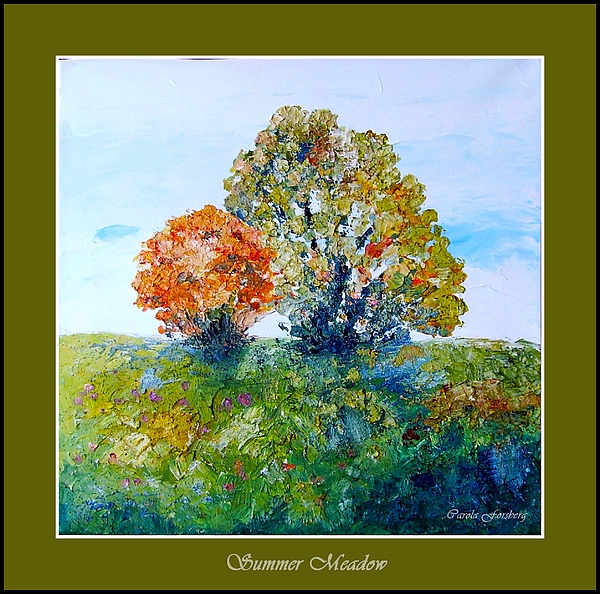 Tree Painting - Summer Meadow by Carola Ann-Margret Forsberg