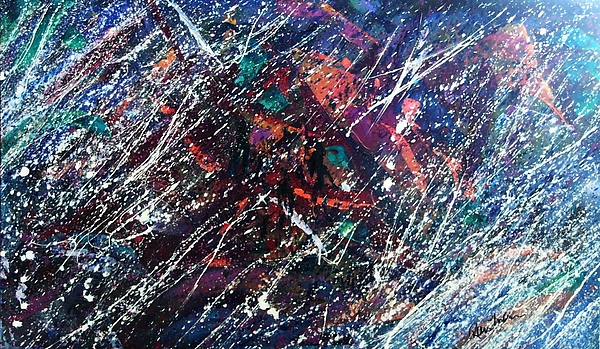 Action Painting - Summer Night Party by Stephane Trahan