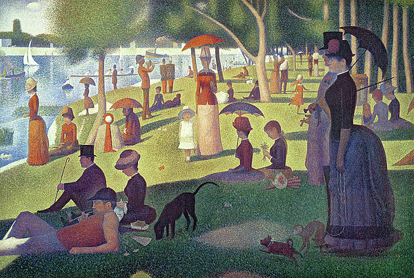 Seurat Painting - Sunday Afternoon On The Island Of La Grande Jatte by Georges Pierre Seurat