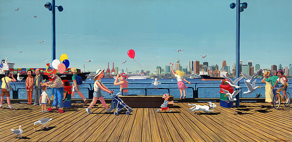 People Painting - Sunday Morning Lonsdale Quay by Neil Woodward