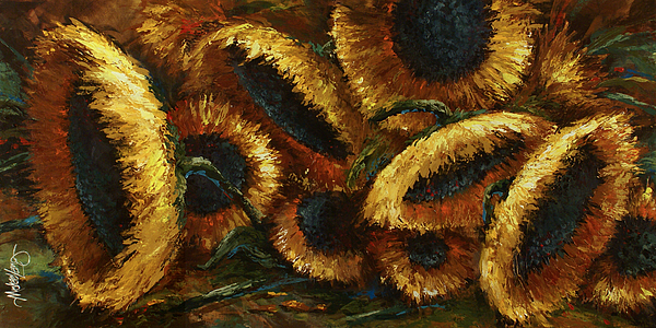 Sunflowers Painting - Sunflowers by Michael Lang
