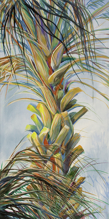 Palm Tree Painting - Sunlit Palm by Michele Hollister - for Nancy Asbell