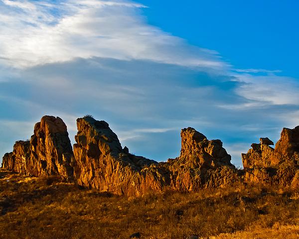Clouds Photograph - Sunrise At Devils Backbone by Harry Strharsky