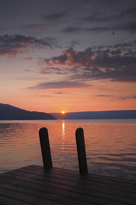 Dawn Photograph - Sunrise Over Keuka V by Steven Ainsworth