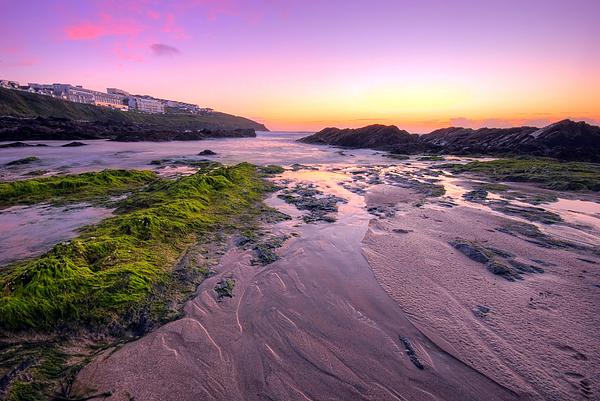 Atlantic Photograph - Sunset By The Ocean by Jaroslaw Grudzinski
