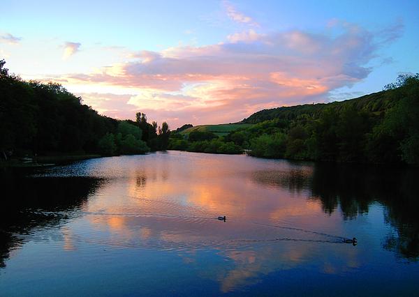 Lake Photograph - Sunset Over A Lake by Svetlana Sewell