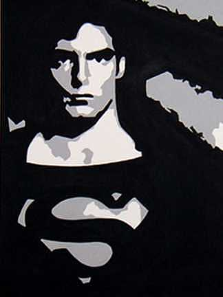 Superman Painting - Superman by Michael James Toomy