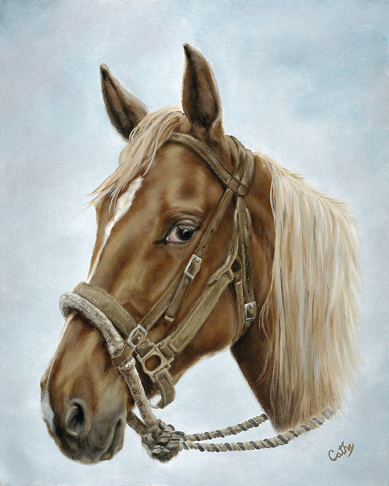 Horse Painting - The Boss Mount by Cathy Cleveland