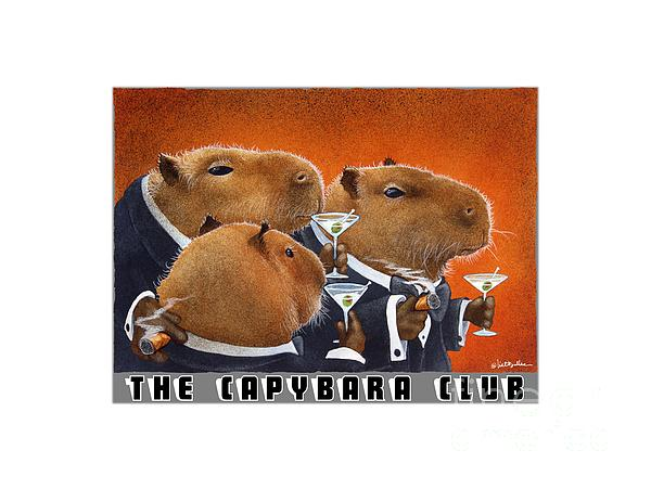 Will Bullas Painting - The Capybara Club by Will Bullas