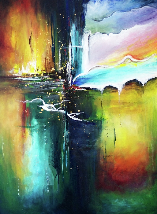 Abstract Painting - The Crossing by Jenny Bagwill