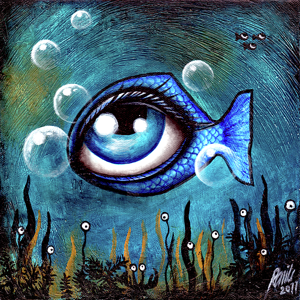The eye fish painting by ramiliano guerra for Fish eyes in paint
