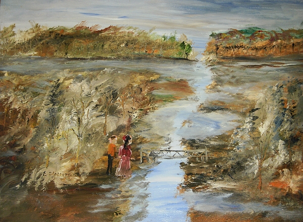 Landscape Painting - The Flood by Edward Wolverton