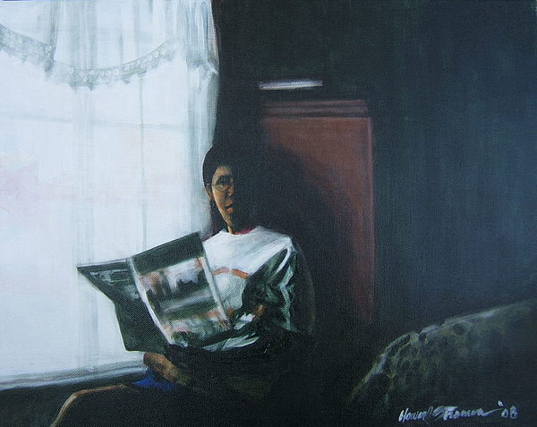 Portrait Painting - The Guest Room by Howard Stroman