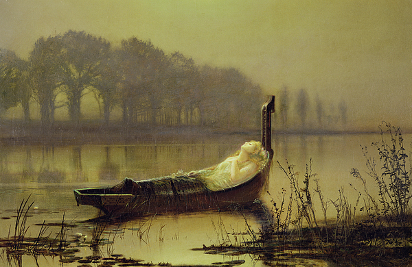 Atkinson Grimshaw Painting - The Lady Of Shalott by John Atkinson Grimshaw