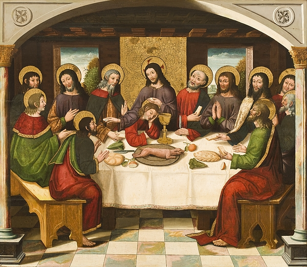 Renaissance Painting - The Last Supper by Master of Portillo