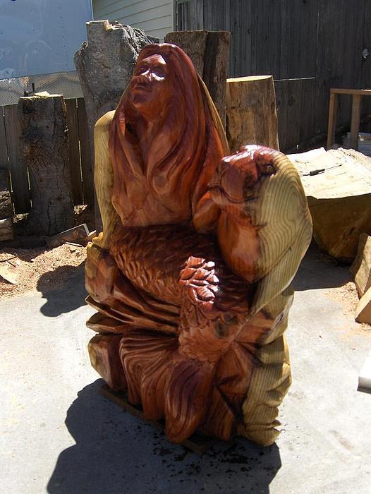 Portrait Sculpture - The Mermaid by Chris Foltz