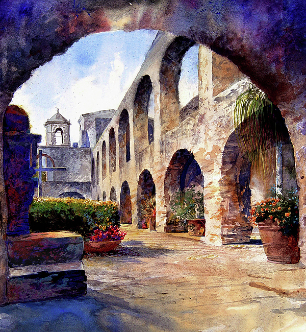 Architecture Painting - The Mission by Andrew King