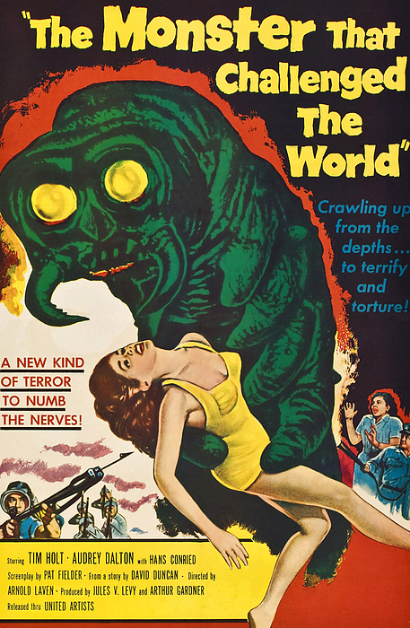 1957 Movies Photograph - The Monster That Challenged The World by Everett