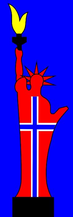Norwegian Digital Art - The Norwegian Statue Of Liberty by Asbjorn Lonvig