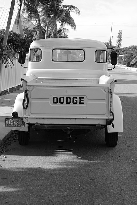 Black And White Photograph - The Old Dodge  by Rob Hans