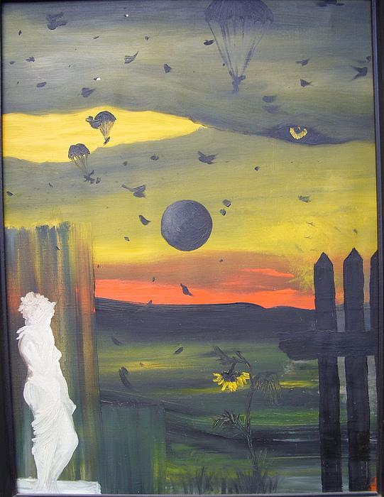 Surrealist Painting - The Survivor by Zsuzsa Sedah Mathe
