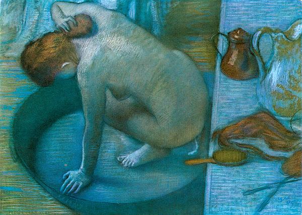 The Tub Painting by Edgar Degas