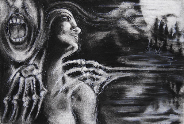 Skeleton Drawing - The Turning Point by Christine Wagner