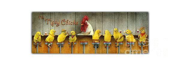 Will Bullas Painting - Tipsy Chicks... by Will Bullas