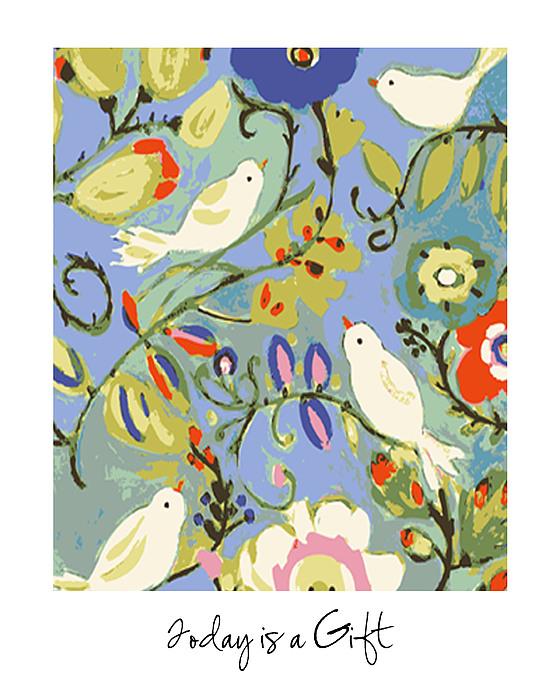 Birds Digital Art - Today Is A Gift by Karen Fields