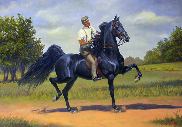 Tom Bass Painting - Tom Bass And Rex Mcdonald by Jeanne Newton Schoborg