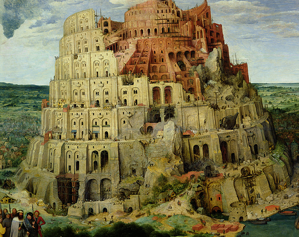 Tower Painting - Tower Of Babel by Pieter the Elder Bruegel