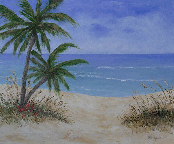 Seascape Painting - Tropical Beach by Barbara Harper