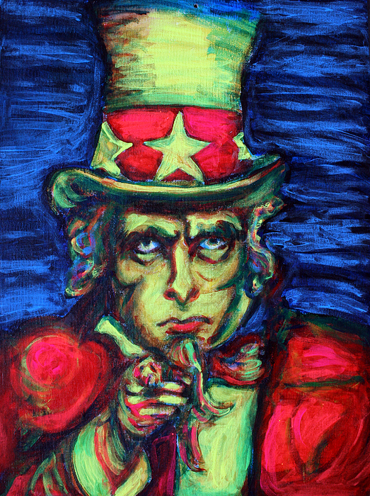 Uncle Sam Painting - Uncle Sam by Hannah Curran