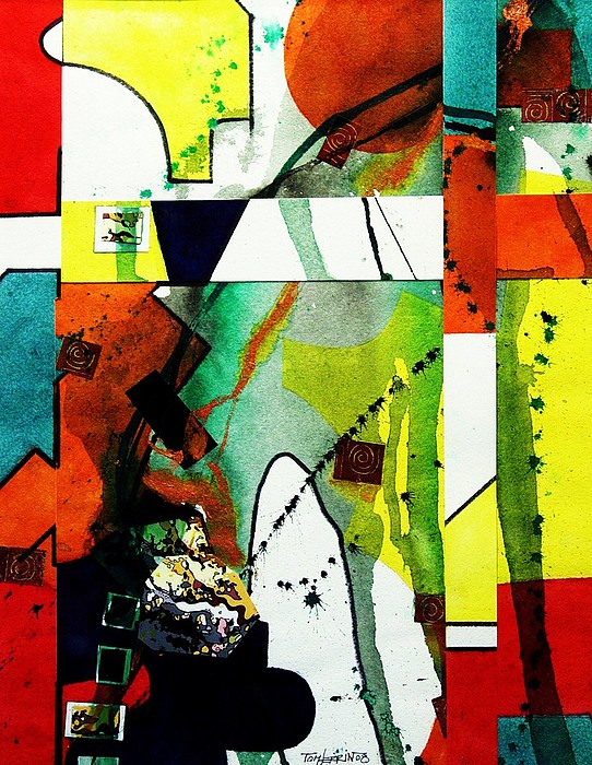 Mixed Media Painting - Untitled Abstract by Tom Herrin
