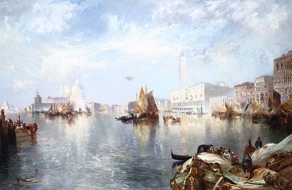 Thomas Moran Painting - Venetian Grand Canal by Thomas Moran