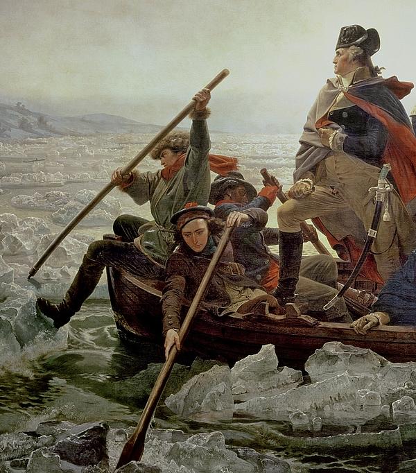 George Painting - Washington Crossing The Delaware River by Emanuel Gottlieb Leutze