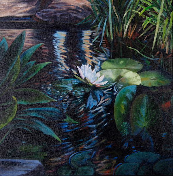 Landscape Painting - Water Garden Series -d by Patricia Reed