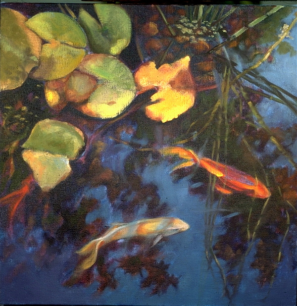 Landscape Painting - Water Garden Series-g by Patricia Reed