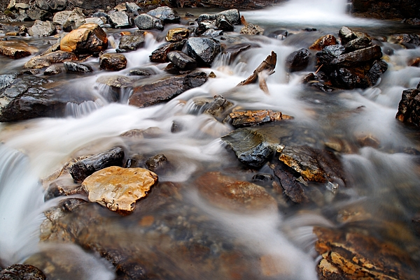 Tangle Falls Photograph - Water On The Rocks by Larry Ricker