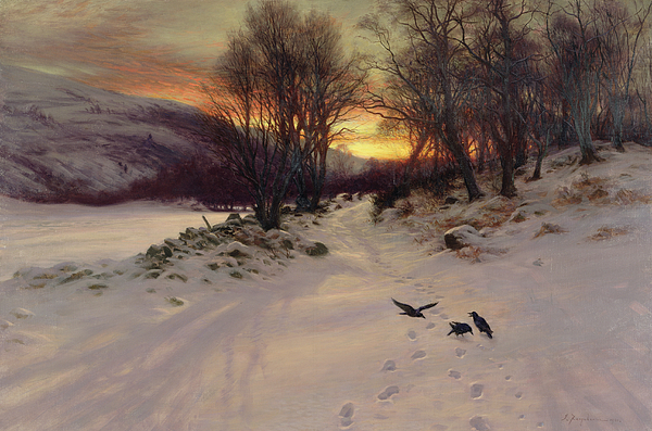 Winter Painting - When The West With Evening Glows by Joseph Farquharson