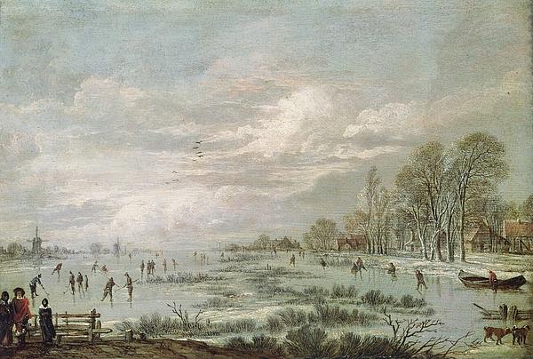Winter Painting - Winter Landscape by Aert van der Neer